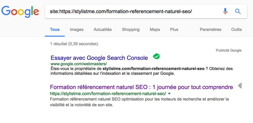 Position 0 Google extrait optimisé indexation réussie