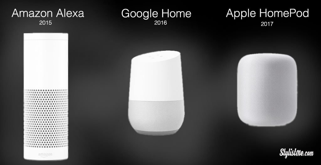Apple Homepod Google Home Amazon Echo