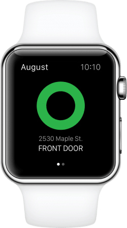 test serrure smart lock august apple watch