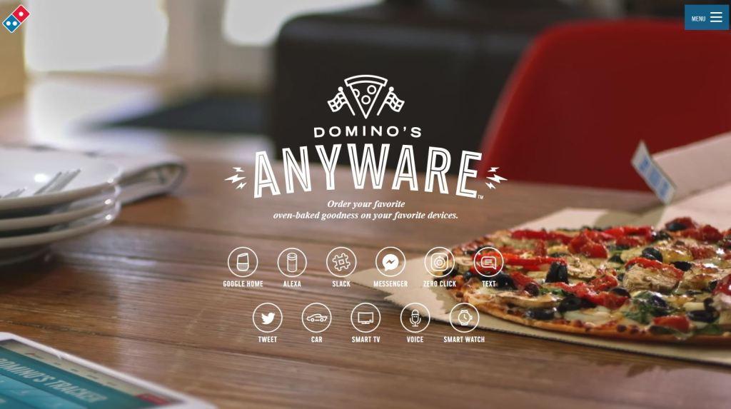 commander pizza avec google home