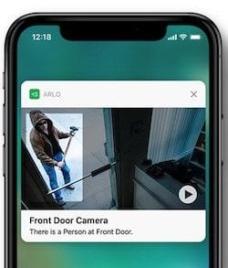 Caméra Arlo Pro détection de personne
