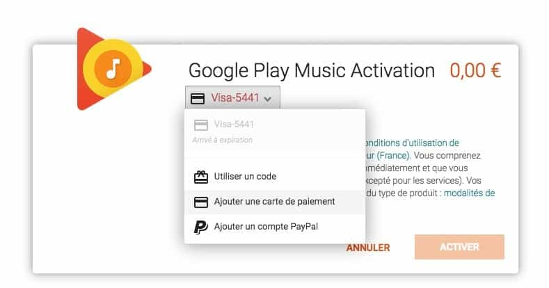 google play musique google home