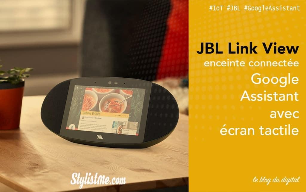 JBL Link View avis test google home assistant