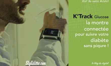 K'Track Glucose test avis de la montre de suivi de sa glycémie sans piqure