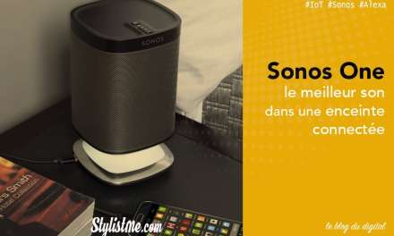 Sonos One avis test de l'enceinte Alexa Amazon (à venir Google Assistant)
