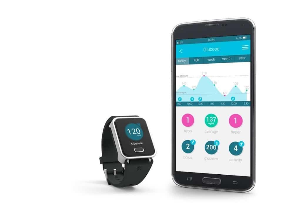 Kwatch glucose application smartphone