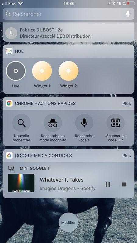 Google Home enceinte bluetooth widget media control