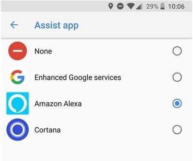 Amazon Alexa peut devenir votre assistant vocal par défaut sur Android copie ecran