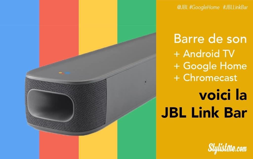 JBL Link Bar, barre de son avec Google Assistant, Chromecast