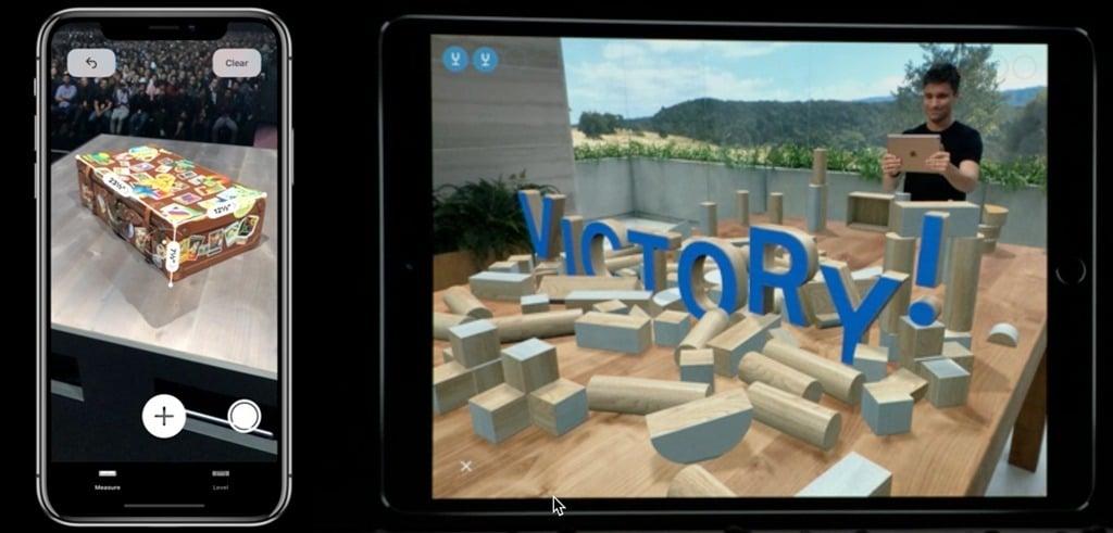 Keynote Apple 2018 WWDC Mesure 3D réalité augmentée