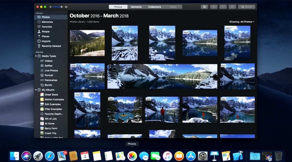 Keynote Apple 2018 WWDC dark mode
