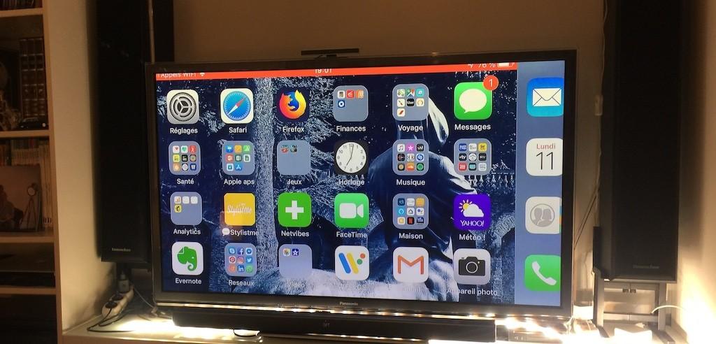 chromecast iphone copie écran app