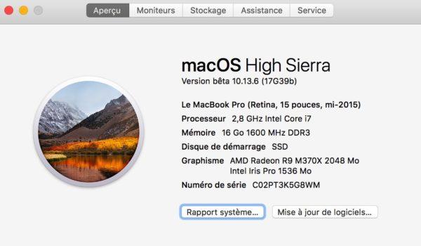 MacBook iMac MacBook Pro MacBook Air compatibles Mojave
