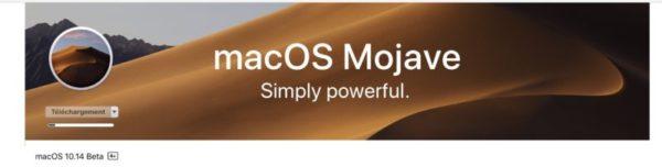 Télécharger et installer macOS Mojave bêta 10.14