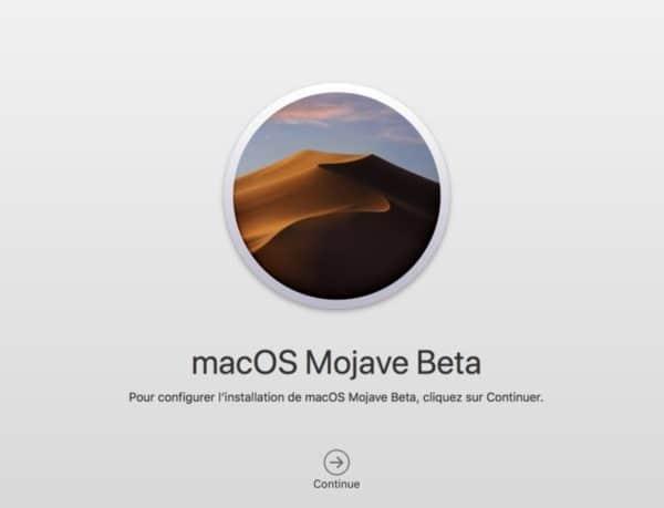 Télécharger et installer macOS Mojave bêta 10.14 configurer