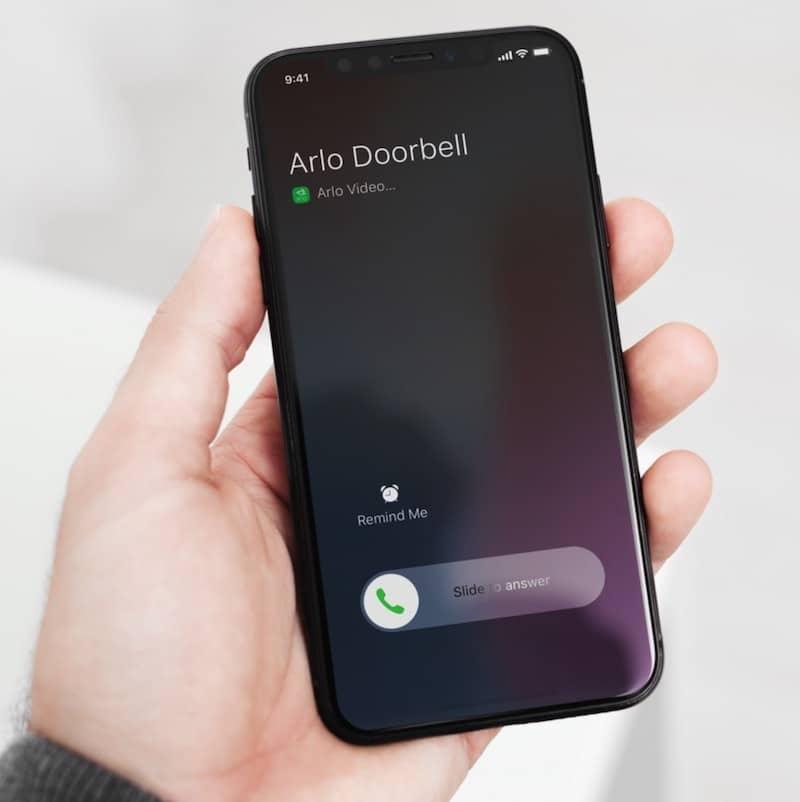 Arlo audio doorbell sonnette carillon alerte sur smartphone