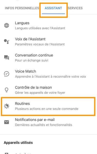 comment accéder aux routines google home 3