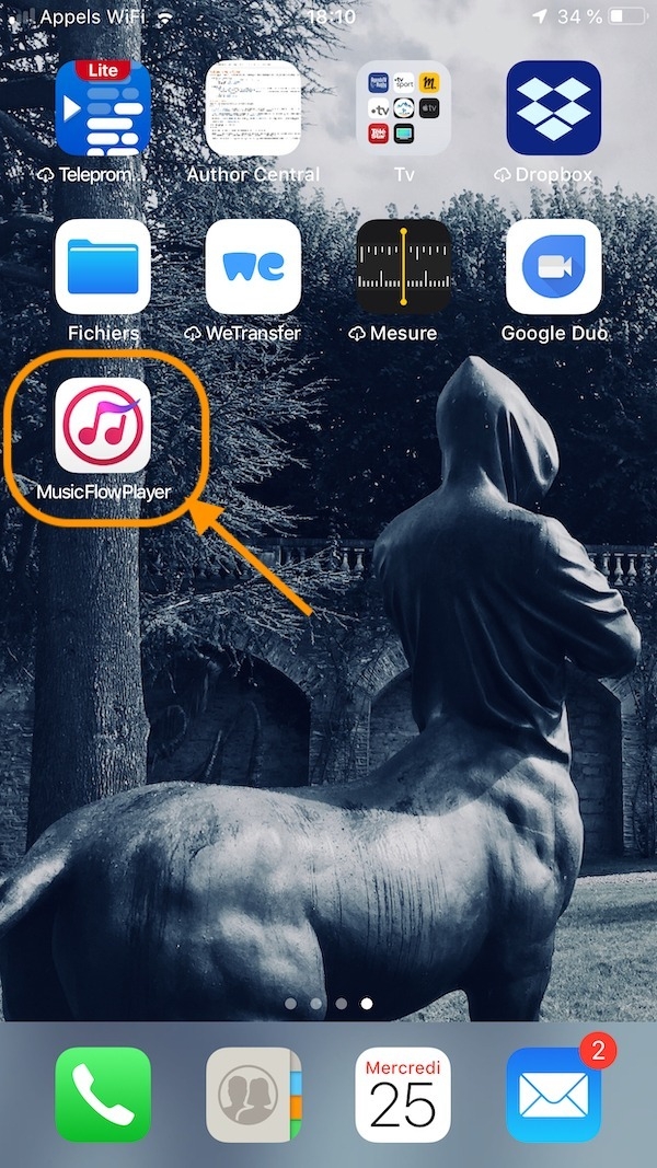 LG app Music Flow Player