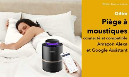 Oittm piège à moustiques connecté sans insecticide pour Amazon Echo et Google Home