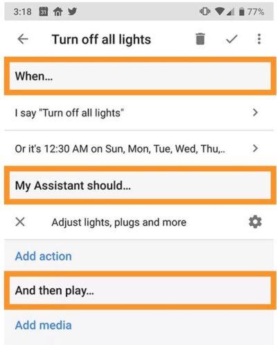 routine google home comment créer