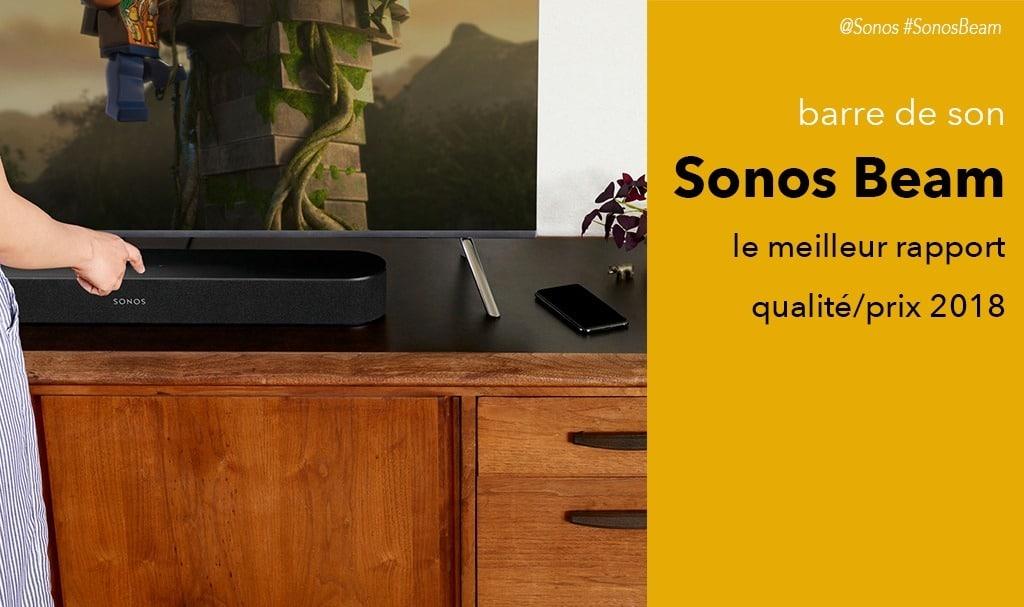 Sonos Beam test avis barre de son avec Alexa et Airplay intégrés