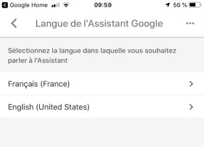 ajouter une deuxième langue a google home