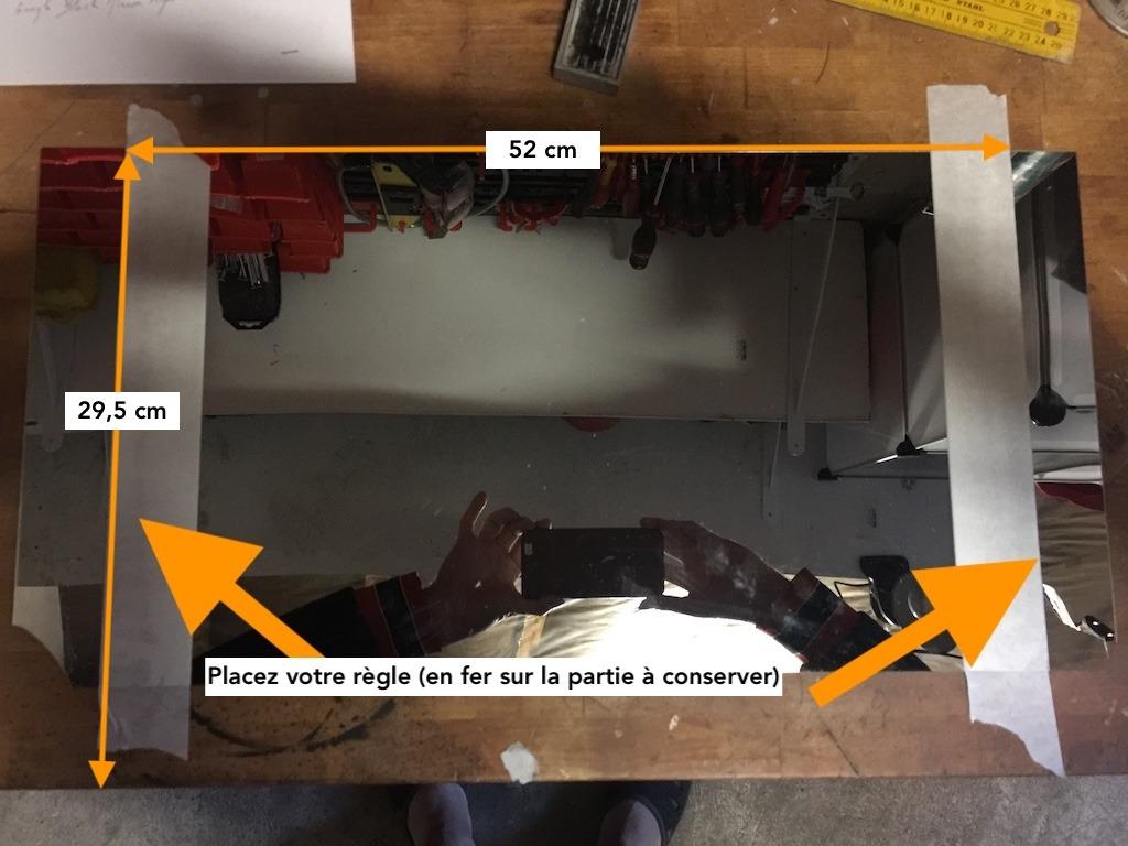 comment découper du Plexiglas effet miroir