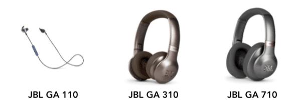 comparatif écouteurs casques compatible Google Assistant JBL GA 110 310 710