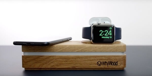 accessoire bois iPhone Apple watch AirPods chargeur whywood