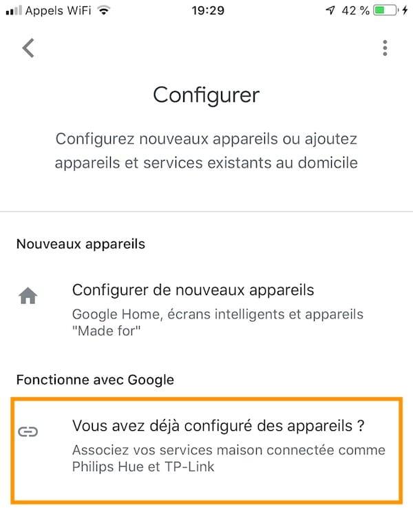 app google home ajouter appareil