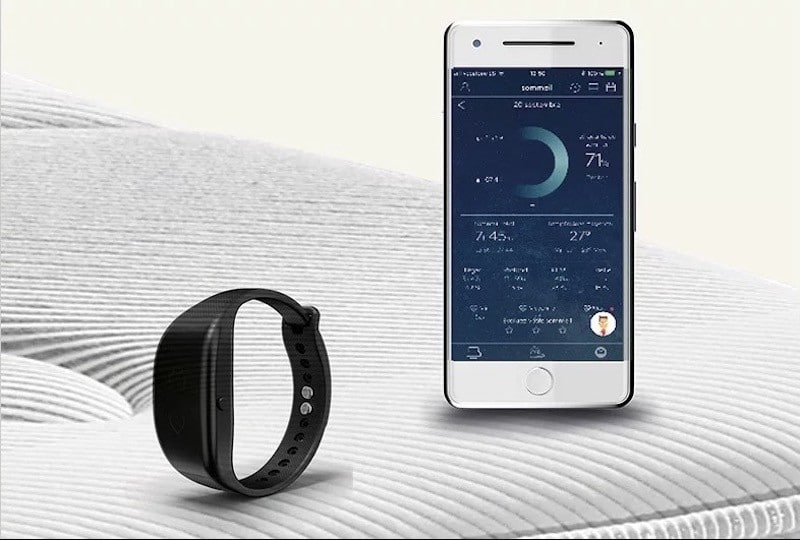 Bultex e-bed avis test matelas app bracelet connecte