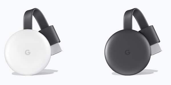 Chromecast 3 noir ou blanc