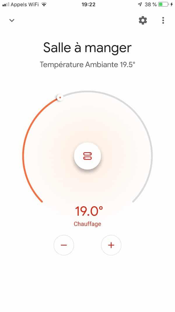 google home app thermostat