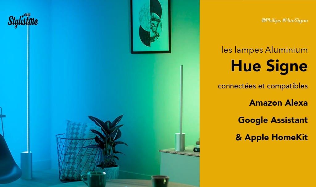 Philips Hue Signe Ambiance avis test des lampes à poser ou appliques connectées