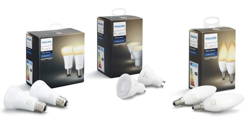 Philips Hue White Ambiance E27 E14 GU10 avis test