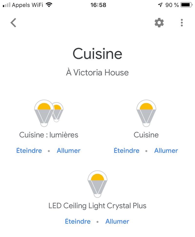 Yeelight Smart Square LED avis test google home