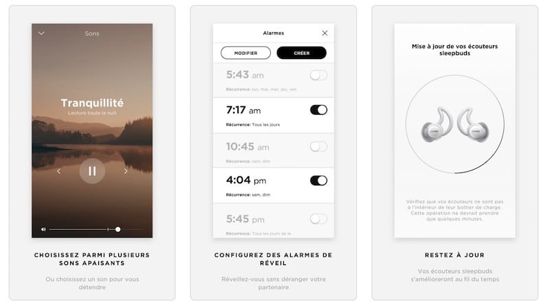 Bose sleepbuds avis test prix app Bose sleep