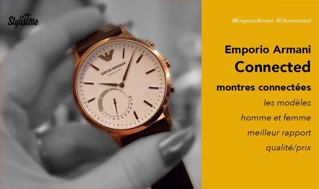 prix favorable prix officiel en ligne ici Emporio Armani connected avis test prix une montre connectée ...