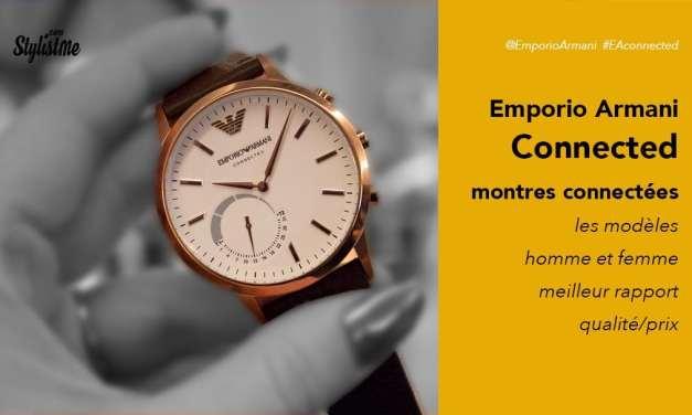 Emporio Armani connected avis test prix une montre connectée accessible
