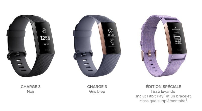 Fitbit charge 3 prix avis test design origine