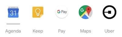 Wear Os App calendrier uber liste Google Pay iPhone