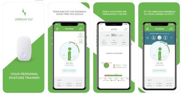 Upright Go avis tes prix app smartphone programme entrainement mal de dos