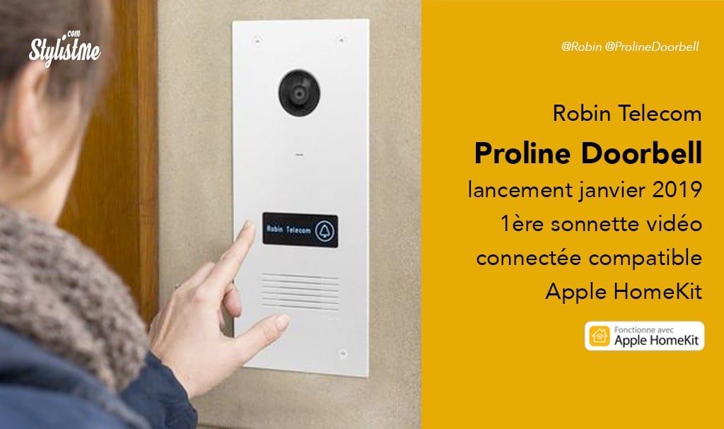 Proline Doorbell prix avis test sonnette connectée vidéo HomeKit