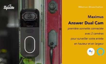 Answer Dual Cam Maximus prix avis test sonnette vidéo connecté avec 2 caméras