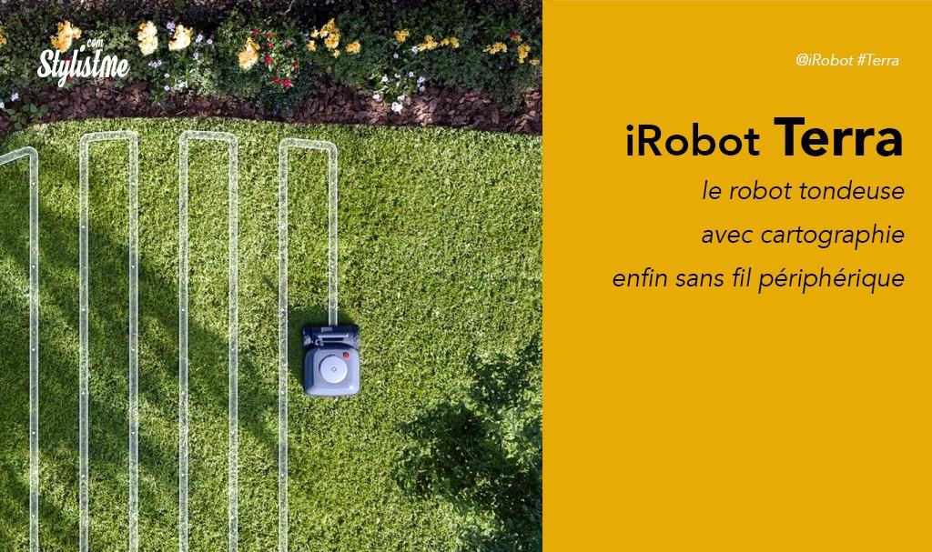 iRobot Terra prix avis test robot tondeuse le zonage sans fil périphérique