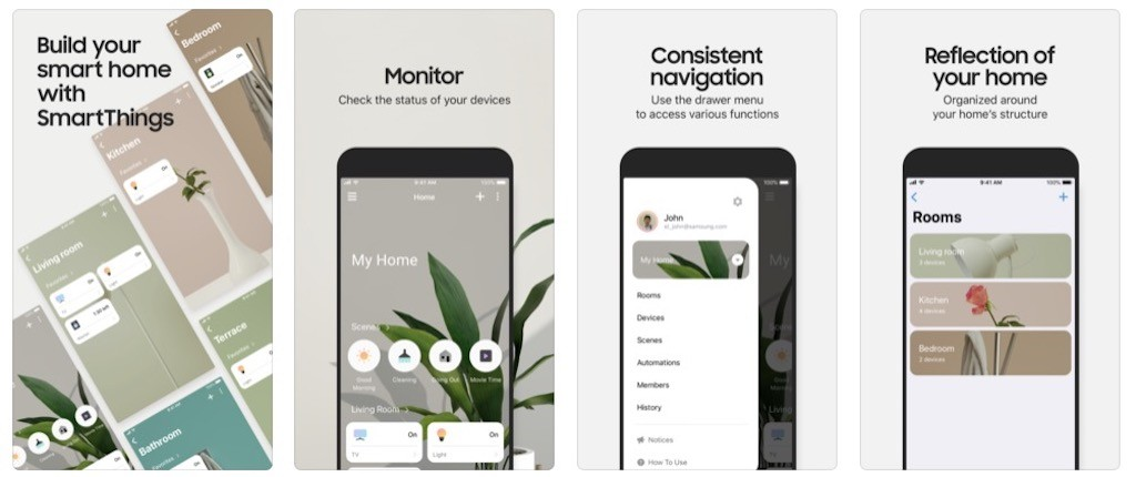 objets compatibles bixby app smartthings