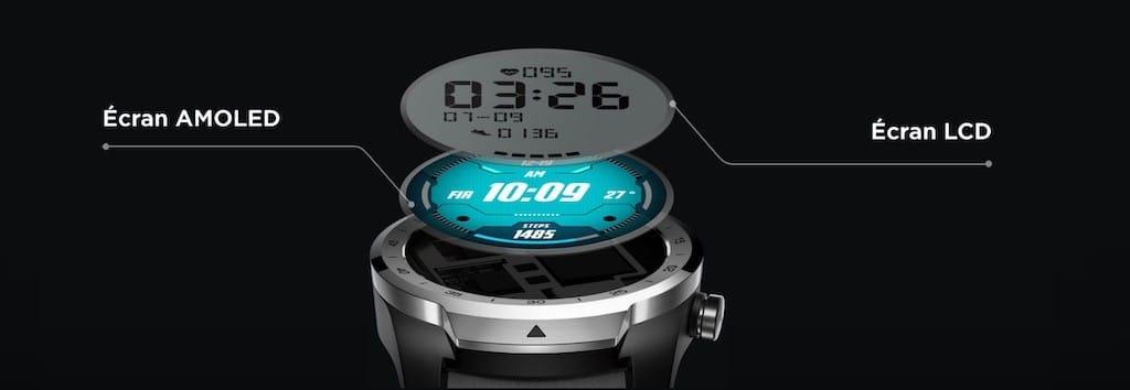 Ticwatch Pro prix avis test double écran