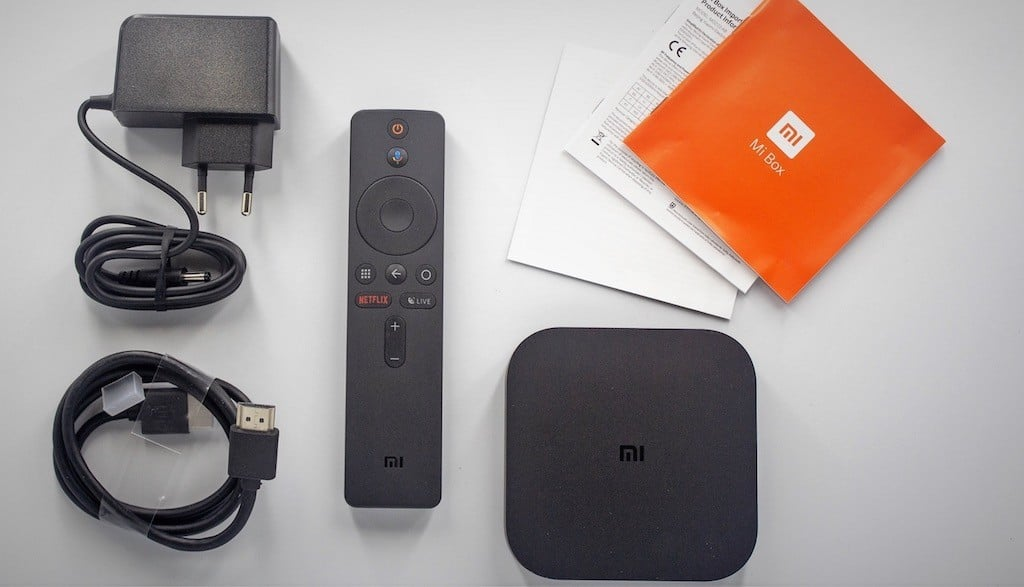 Xiaomi Mi box S 4K contenu boite