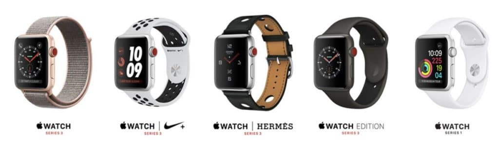 Apple Watch 1 2 3 4 pas cher