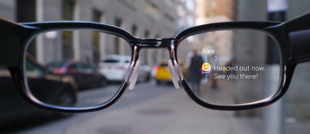 Noth Focals message Android affichage lunettes connectées